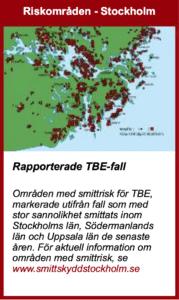 TBE riskområden i Stockholm