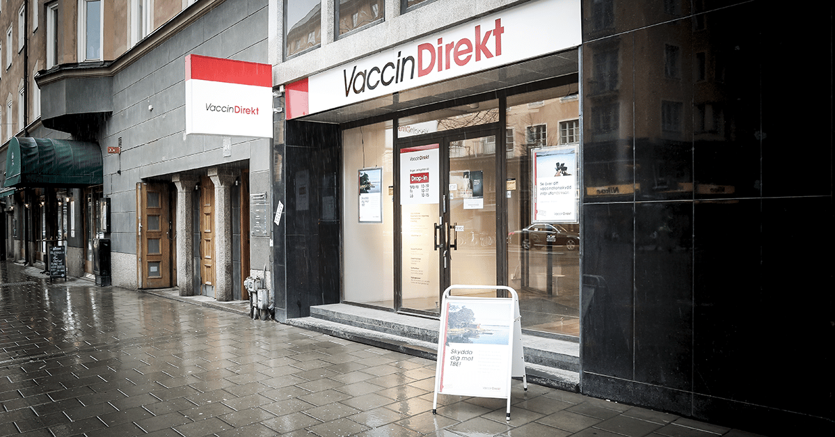 drop in vaccination lund
